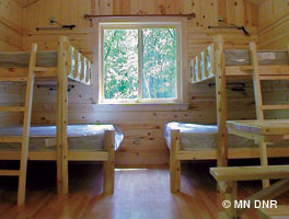 Photo of a camper cabin interior