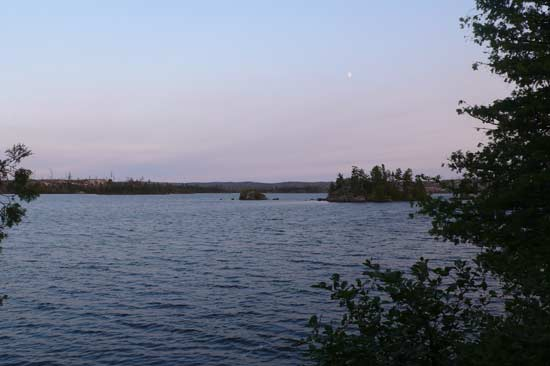 View from the campsite on Sea Gull Lake.