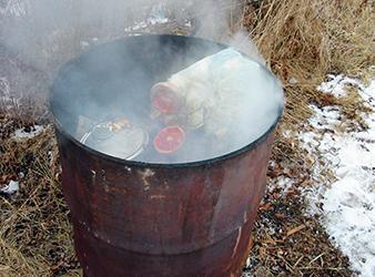 how to cut a burn barrel