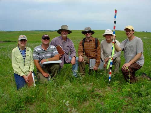 Ecological Resource's prairie monitoring crew, 2009