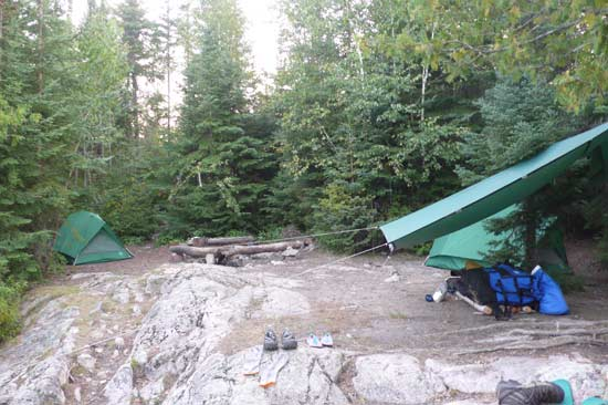 Camp on Sea Gull Lake