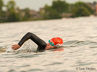 image of an open-water swimmer