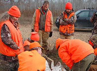 image of participants in DNR's learn to hunt white-tailed deer program.