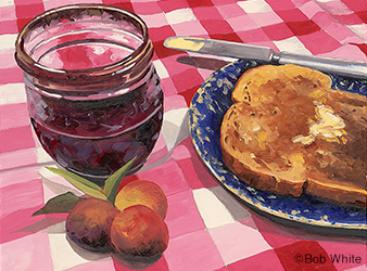 illustration of wild plum jam